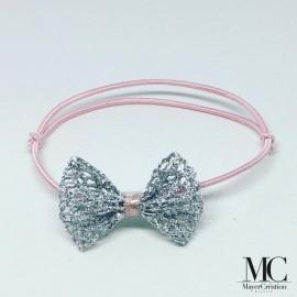 Bracelet rose et nœud...