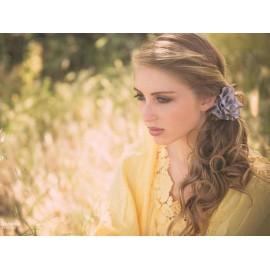Headband fleur de satin,...