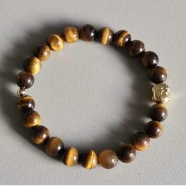 Bracelet œil de tigre 8 mm,...